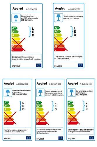 Aogled Led Spiegelleuchte Badezimmer 10W 820LM 40cm 230V 4000K,Edelstahl 3-in-1
