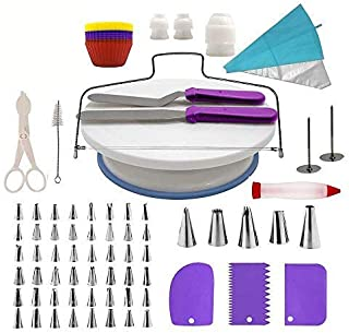 Cake Decorating Kit, lesgos 106 PCS Baking Supplies With 11 Inch Cake Turntable, Icing Tips, Cake Spatulas, Pastry Tools, ...