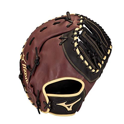 Mizuno GXF50B3BC MVP Prime Baseball First Base Mitt 12.5', Left Hand Throw, BLACK CHERRY