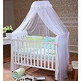 Foxnovo Moustiquaire de lit à baldaquin pour enfant (Blanc)