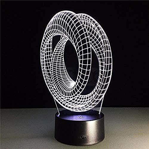 Magic Optical Illusion 3D Stimmungslampe USB-Tisch Dekorative Lampe Roller Spiralbirne Illusion Luminaria
