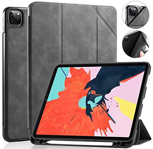 Mangas de la bolsa de la caja de la PC de la table For iPad Pro 11 pulgadas 2018 del soporte del cuero de la tableta, caso elegante de la cubierta protectora delgada suave de la Shell ( Color : Grey )