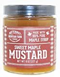 Sweet Maple Mustard, 8 oz Jar - Made with 100% Pure Maple Syrup