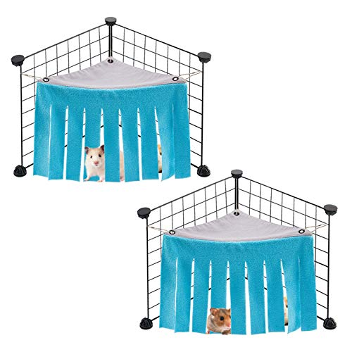 MEWTOGO 2 Pack Small Pets Hideaway Corner-Guinea Pig Hideaway Corner House Toy Cage for Guinea Pig Hamster Chinchilla Rabbit and Other Small...