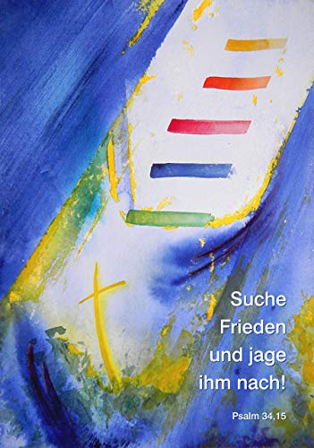 Jahreslosung 2019, XXXL-Poster DIN A0 (84 x 118 cm), »Suche Frieden und jage ihm nach«