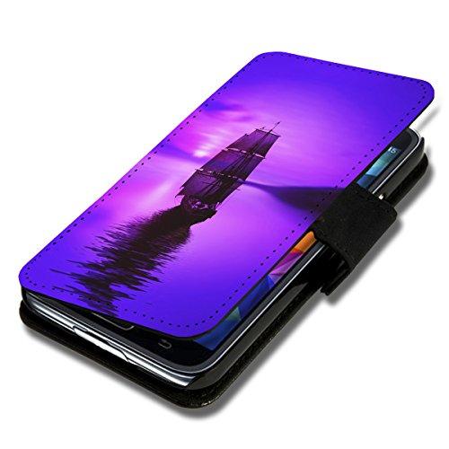 Book Style Flip Handy Tasche Hülle Schutz Hülle Schale Motiv Etui für Huawei Ascend Y550 - A52 Design11