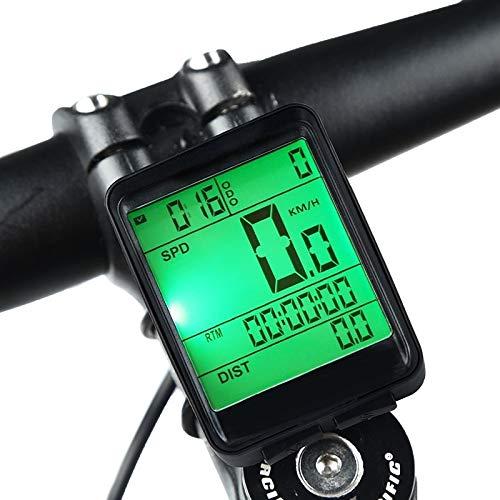 Guijiyi Contachilometri Bici Senza Fili, Computer da Bicicletta, Wireless Tachimetro Bicicletta Impermeabile per Computer con Display, per Bici, Distanza, velocità, Tempo