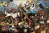 KUANGPP Puzzle Niños Adultos 3000 Piezas Juego Juguetes Regalos La caída del ángel rebelde Juguetes educativos y de Aprendizaje