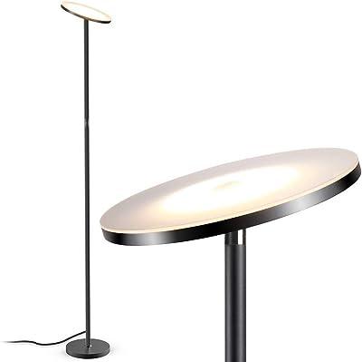 WHQ Lampadaire, luminosité LED réglable, Hauteur réglable Verticale Moderne Lampe, Rotating col de Cygne, Décoration Base Solide Chambre/Salon/Bureau/café/Salle à Manger QD (Color : O)