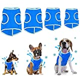 【Final Clearance! Everything Must Go】Pet cooling vest coat, Cool Coat for Dogs outdoor, Reflective Safety Sun-proof Pet Jacket Mesh Vest with Magic Tape for Puppies Dogs - Size XS (Blue)