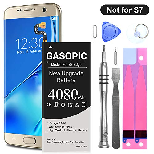 Galaxy S7 Edge Battery Replacement Kit, Upgraded 4080mAh Li-Polymer EB-BG935ABE Replacement Battery for Samsung Galaxy S7 Edge G935 G935V G935A G935T G935P with Complete Tool Kits [Not for Galaxy S7]