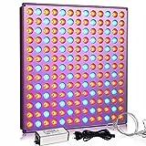 Yasbed Lámpara LED para plantas de interior, 75 W, espectro completo, para plantas, hidropónica, invernadero, plantas suculentas, flores