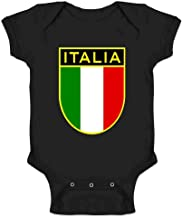Italy Soccer National Team Retro Crest Infant Baby Boy Girl Bodysuit