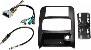 Jeep Liberty 2003 2004 2005 2006 2007 Aftermarket Double Din Radio Installation Dash Kit Bezel + Premium Wire Harness & Antenna Adapter