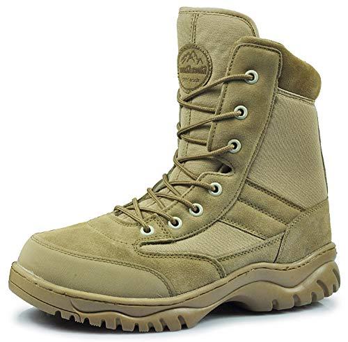 Taktische Stiefel für Herren, Militärstiefel, Jagdstiefel, leicht, atmungsaktiv, für Wandern, Arbeitsschuhe, 123, braun, EU45/US12/UK11