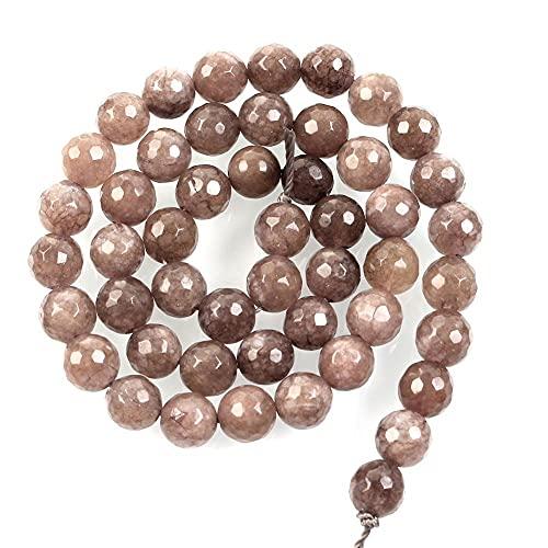 Piedra natural facetada gris claro Alabastro Gema Charm Perlas sueltas para hacer joyas costura pulsera DIY Strand 8 Mm H7266 8mm aproximadamente 48pcs