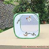 Dovlen Jaula Plegable para Insectos, Plantas, Invernadero, Red de transmisin con Cierre, 30cmx30cmx30cm