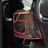 Car Net Pocket Handbag Holder, Seat Back Net Bag for Purse Storage Phone Documents Pocket, Barrier of Back Seat Pet...