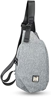 Men's Chest Bag, Shoulder Bag, Large Capacity Breathable, Can Be Placed IPAD (Gray)