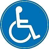 easydruck24de 1 Rollstuhl-Aufkleber innenklebend I Ø 10 cm I kfz_398 I Sticker Behinderten-Symbol Behinderung schwerbehindert Behinderten-Transport Rollstuhl-Fahrer