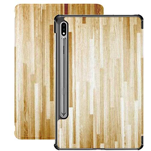 Funda para Samsung Galaxy S7 Plus Funda de Piel sintética con Vista en el Piso de la cancha de Baloncesto de Arce de Madera Dura para Samsung Galaxy Tab S7 Plus 12.4 Pulgadas 2020, Funda para Samsun