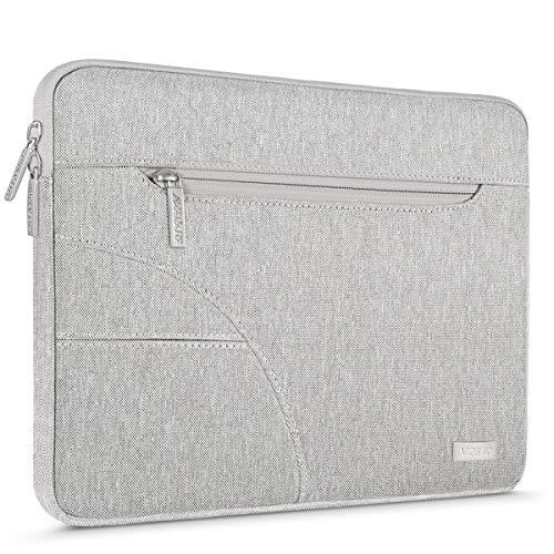 MOSISO Laptop Custodia Borsa Compatibile con 13-13,3 Pollici MacBook PRO,MacBook Air,Ultrabook Netbook Tablet,Poliestere Tessuto Sleeve Copertina Protettiva,Grigio