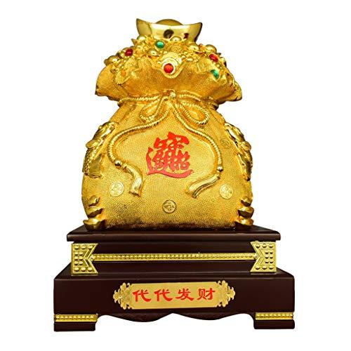 Estatuas de Feng Shui Bolsa de Feng Shui de oro Lingotes / Yuan Bao dinero for la abundancia suerte la decoración del hogar regalo atraer abundancia y buena suerte, Feng Shui Decoración Estatua de riq