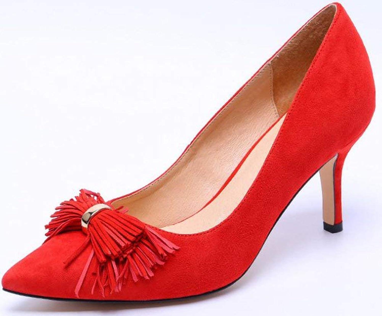 Oudan ALLEINERZIEHENDE Frauen-Schuhe Leder. (Farbe (Farbe (Farbe   Rot, Größe   38)  be2840