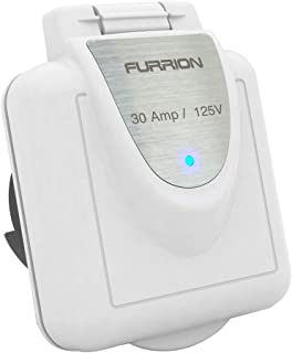 Furrion F30INS-PS Square Non-Metallic 30 Amp Inlet with Stainless Plate