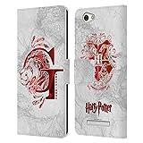 Head Hülle Designs Offizielle Harry Potter Gryffindor Aguamenti Deathly Hallows IX Leder Brieftaschen Huelle kompatibel mit Wileyfox Spark X