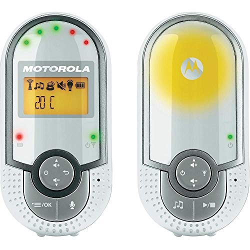 Motorola MBP16 - Vigilabebés audio plug-n-go con modo eco y luz nocturna, color blanco