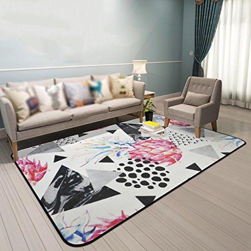Creative Light Modern Living Room Tapis Canapé Table à café Mats Chambre Rectangle de Chevet Tapis de Maison (Taille : 120cm*180cm)