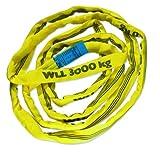 Braun 30051RS - Correa transportadora (poliéster, resistencia: 3000 kg, 5 m), color amarillo