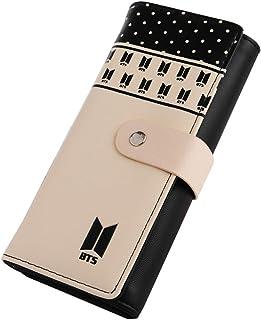 22322409607c YEeyuTrwd Kpop BTS Love You PU Long Wallet for Girls Women Wallet Money  Card Holder Fashion Clutch Purse - -