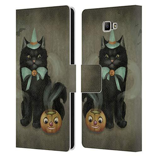 Head Case Designs Ufficiale Ash Evans Birra Affascinante Gatti Neri 2 Cover in Pelle a Portafoglio Compatibile con Samsung Galaxy J7 Prime 2 2018