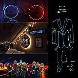 EL Wire Neon RGB Color Lights Led Stick Figure Kit, luz estroboscópica brillante para decoración de disfraces de fiesta de baile impermeable(3M) (Rosado)