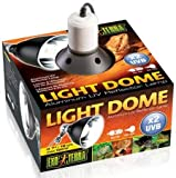 Exo Terra UV-Reflektorlampe aus Aluminium Light Dome bis 150W mit einem Durchmesser von 18cm