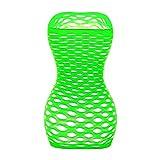 Womens Mesh Chemise Dress Fishnet Lingerie Babydolls Nighties Mini Dress (Green, 1)