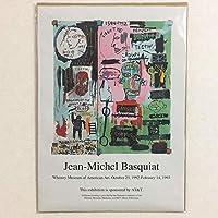 布 ポスター「ジャン=ミシェル・バスキア展 ホイットニー美術館」 キャンバスプリント サイズ:30×42cm