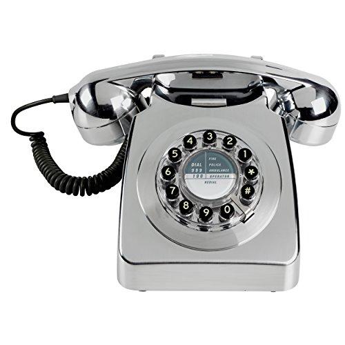 Wild and Wolf Retro 746 Telephone | Chrome