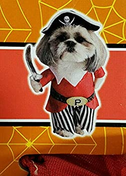 Spooky Village Halloween Pirate Pet Dog Puppy Costume XS  up to 9 in