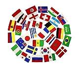 HAAC Fahnen Girlande Wimpelkette mit 32 Teilnehmer Länder 12 Meter Größe je Fahne 21 cm x 14 cm Fußball 2018