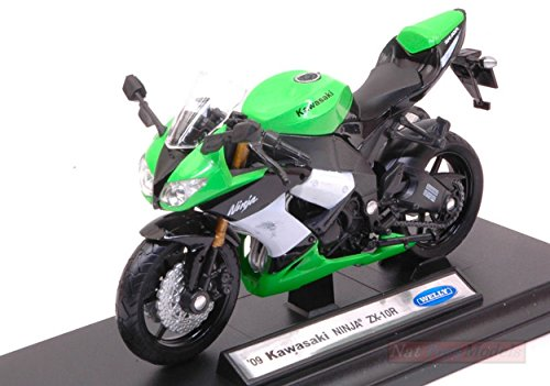 Welly WE38511G Kawasaki Ninja ZX-10R 1:18 MODELLINO Die Cast Model Compatible con