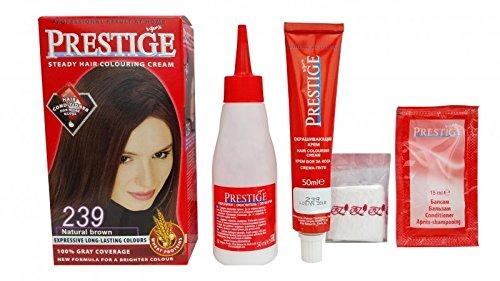 Pack économique de 2 teintures en crèmes colorantes pour les cheveux, couleur marron naturel 239