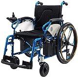 Yuzhonghua Light silla de ruedas ancianos eléctrica for el viaje discapacitados y personas de edad avanzada, el respaldo de almacenamiento masivo, amortiguador de malla transpirable, el pedal movible,