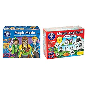 Orchard Toys Magic Maths Game & Match and Spell Next Steps Board Game