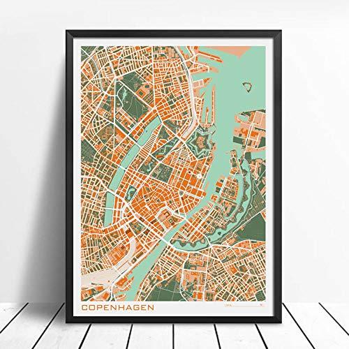 Copenhague Dinamarca Argentina Mapa De La Ciudad Rompecabezas Desafiante Juego Educativo Intelectual...