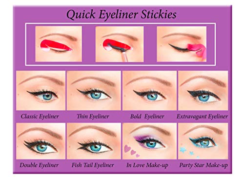 Quick Eyeliner Stickies Make-up COMPLETE SET, 80 Stück DE3, 50 g