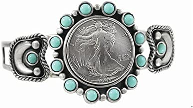 American Coin Treasures Silver Walking Liberty Half Dollar Cuff Bracelet