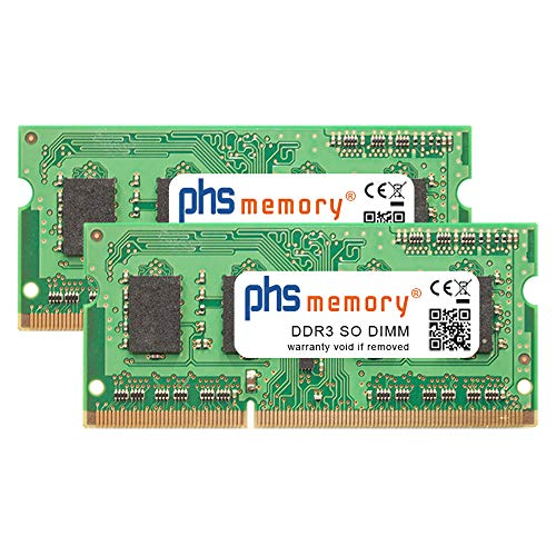 PHS-memory 8GB (2x4GB) Kit RAM módulo Adecuado/Adecuada para QNAP TS-451+ DDR3 SO DIMM 1600MHz PC3L-12800S